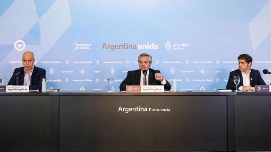 Alberto Fernández olivos coronavirus anuncio