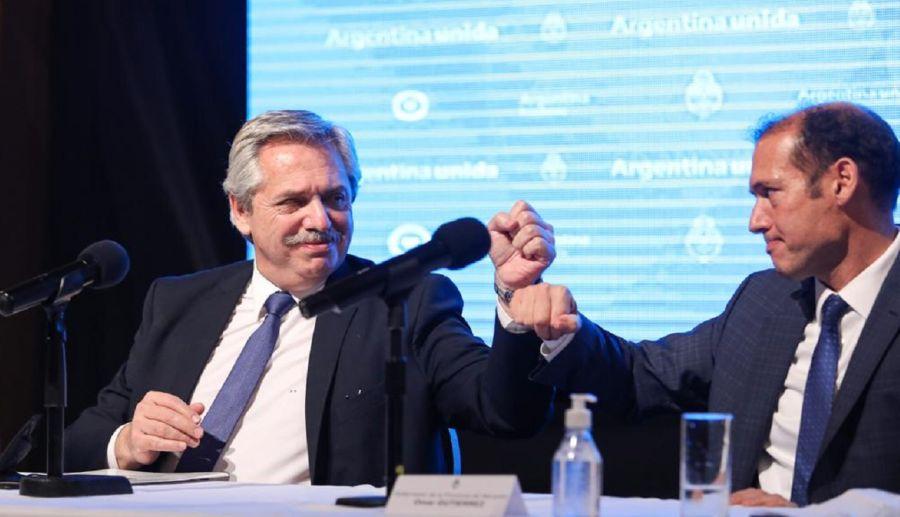 Alberto Fernandez y Omar Gutierrez