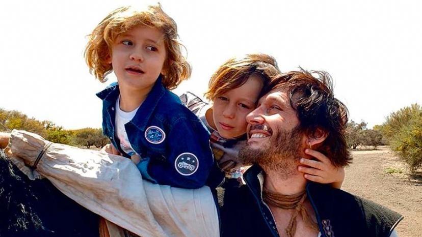 Benjamín Vicuña con Beltrán y Benicio