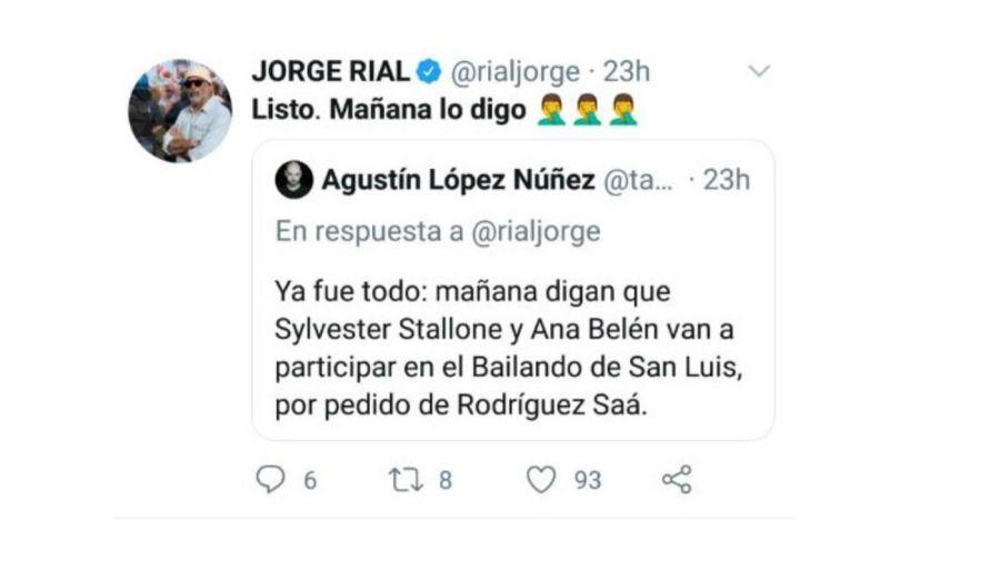 La broma de Jorge Rial