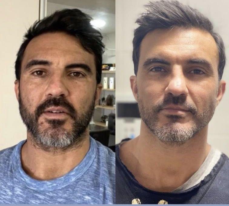 El cambio de look de Fabián Cubero que él mismo se realizó