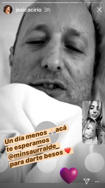 Los tiernos mensajes de Jésica Cirio a Martín Insaurralde mediante video llamada