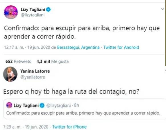 Picante mensaje de Lizy Tagliani, tras confirmar casos de COVID en América