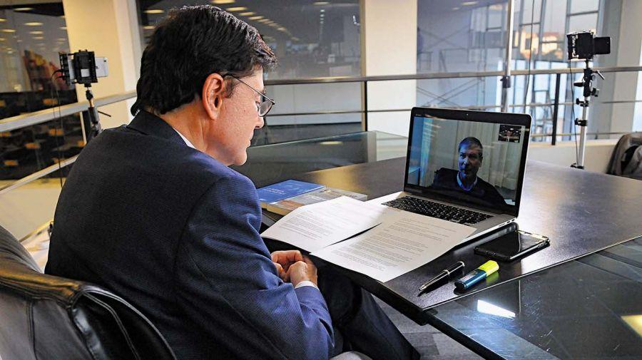 Rodrigo Zarazaga, en la entrevista con Jorge Fontevecchia.