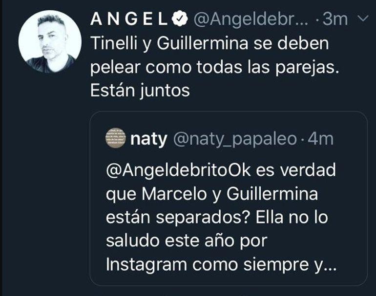Angel de Brito sobre Marcelo Tinelli y Guillermina Valdés