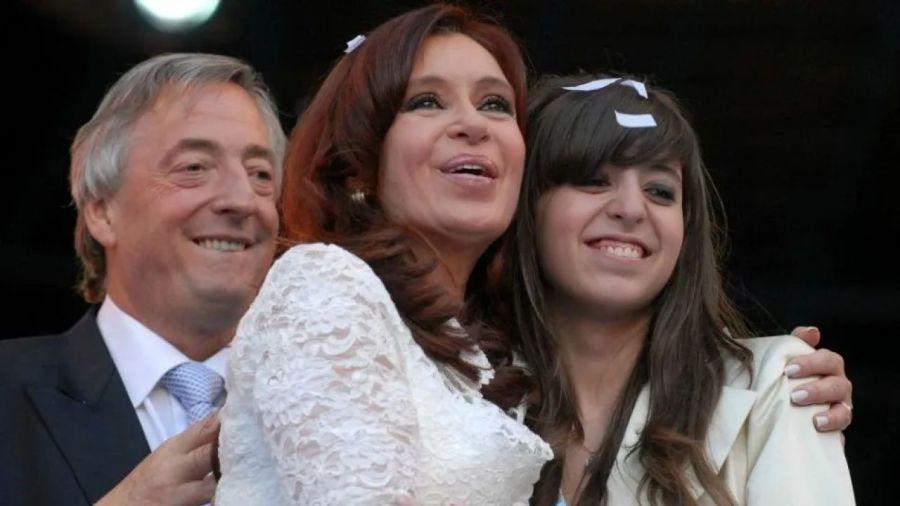 Florencia con Cristina y Néstor Kirchner