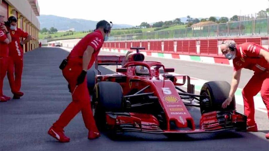 Cómo fue el reencuentro de Vettel y Leclerc