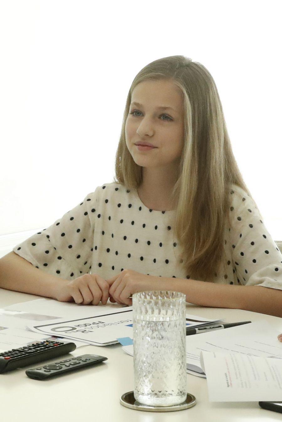 Letizia y el acertado look que usó para una videollamada