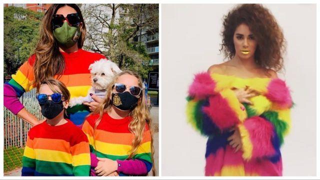 Lali Espósito, Florencia de la V y su familia en el Día Internacional del Orgullo LGBT