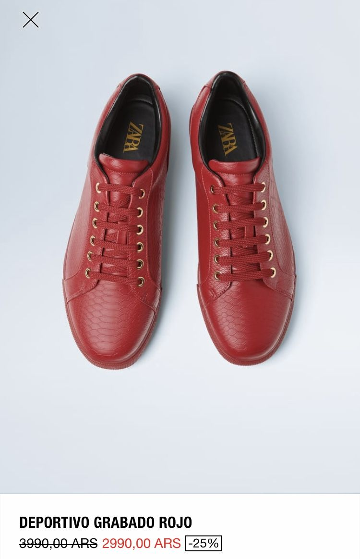 Zara Hombres Rojo