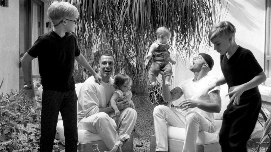 Ricky Martin Jwan Yosef y sus hijos