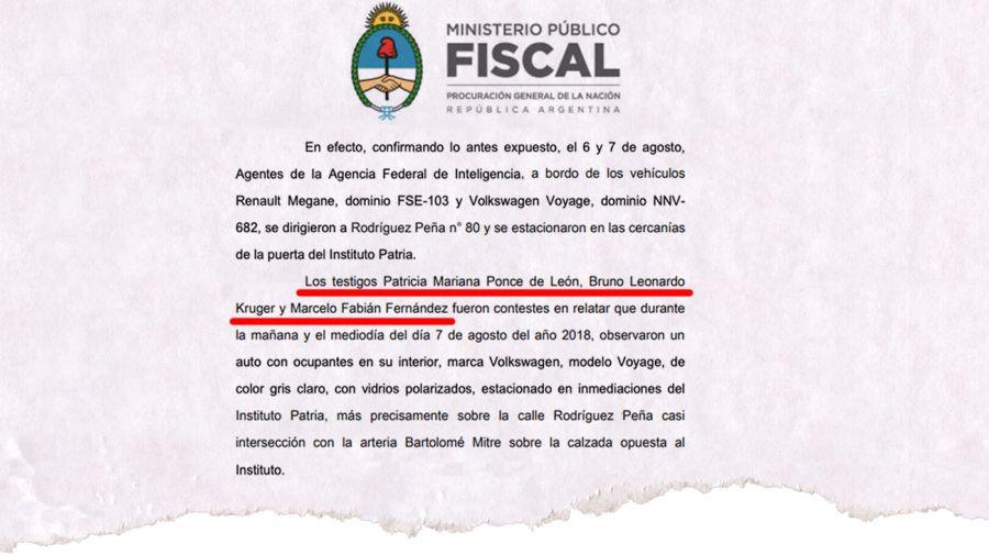 Cristina denunció espionaje con dos ex espías de testigos