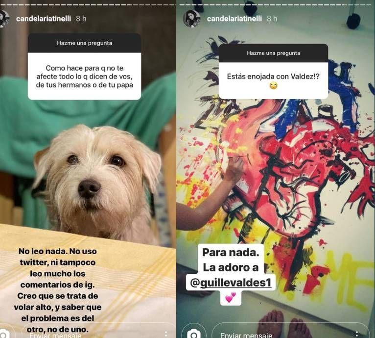Cande Tinelli habló de su relación con Guille Valdés