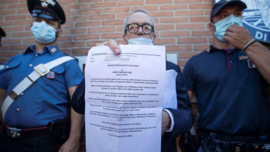 Carta de despedida de Ennio Morricone
