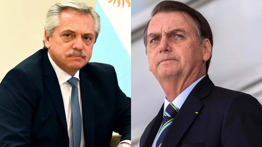 Alberto Fernandez y Jair Bolsonaro-20200707