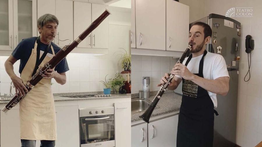 Músicos de la Filarmónica de Buenos Aires crearon una suite de Bizet con percusión vegetal-20200707