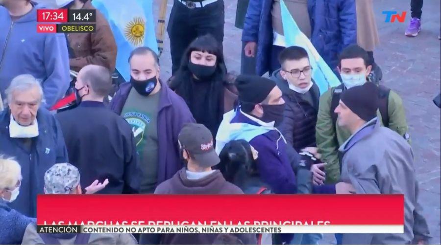 Incidentes en la marcha del Obelisco