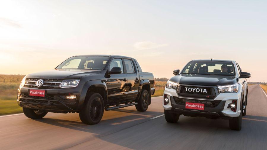 Volkswagen Amarok3.0 V6 Black Style vs Toyota Hilux 4.0 GR Sport V6