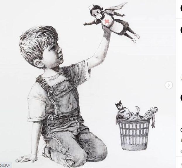 Banksy en la pandemia