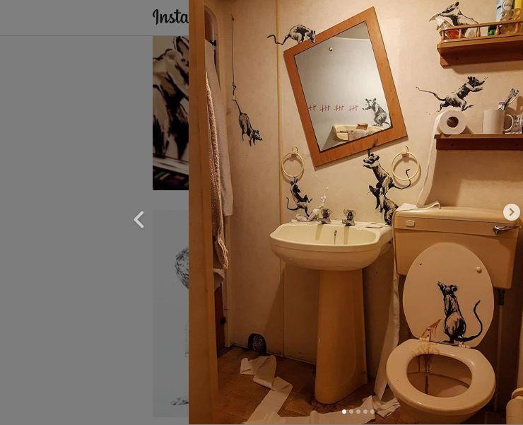 Banksy pinta su baño.