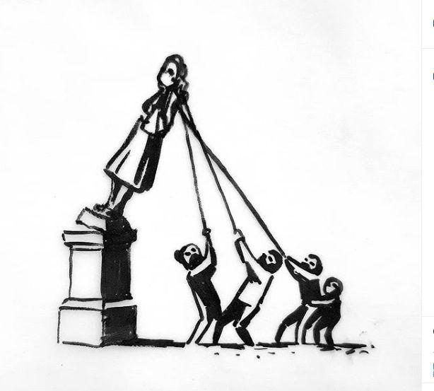 Bansky y los que derriban estatuas.
