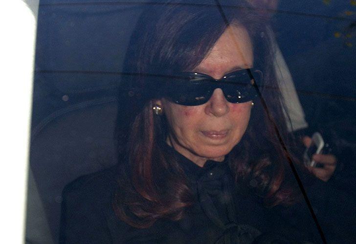 Cristina Kirchner también visitó el Sanatorio Otamendi.