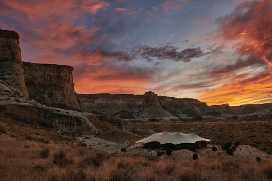 Acampar con lujo en Utah, Estados Unidos.