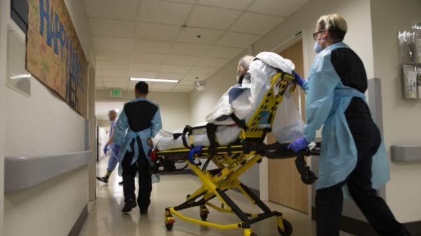 Ocupación de camas de terapia intensiva.