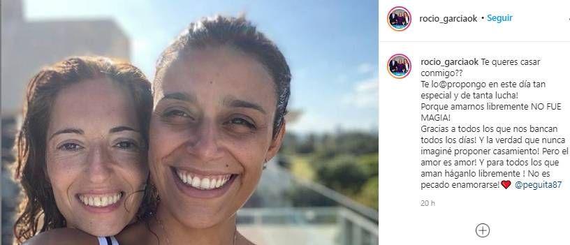 Rocío García, ex pareja de Máximo Kirchner, anunció que se casa con su novia