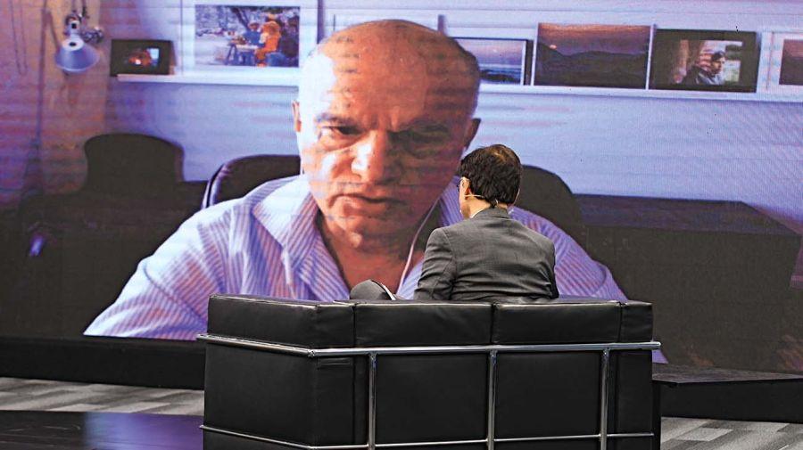 El intendente de Lanús, Néstor Grindetti, en la entrevista con Jorge Fontevecchia.