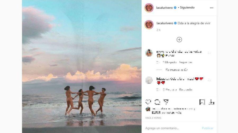 Calu Rivero se desnudó en la playa