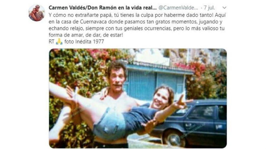 Don Ramón y el recuerdo de su hija Carmen