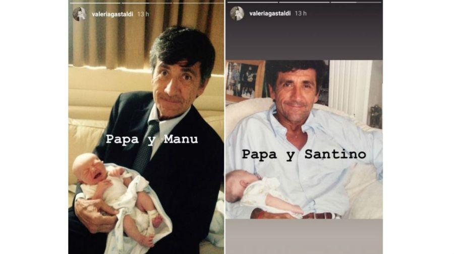 Marcos Gastaldi y sus nietos, Manuel y Santino Pereyra Iraola