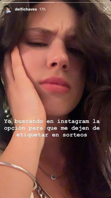 Delfina Chaves enojada