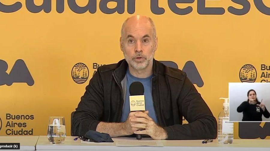 Horacio Rodríguez Larreta, jefe de Gobierno porteño.