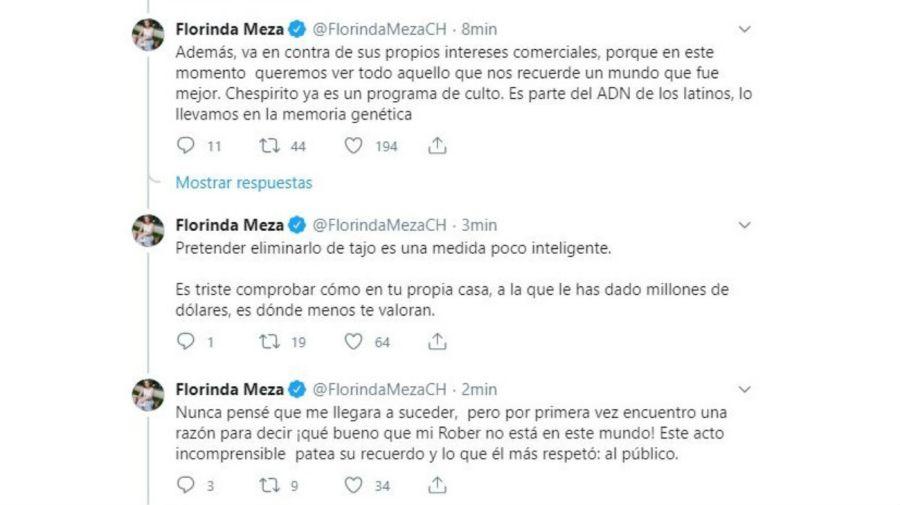 Florinda Meza indignada