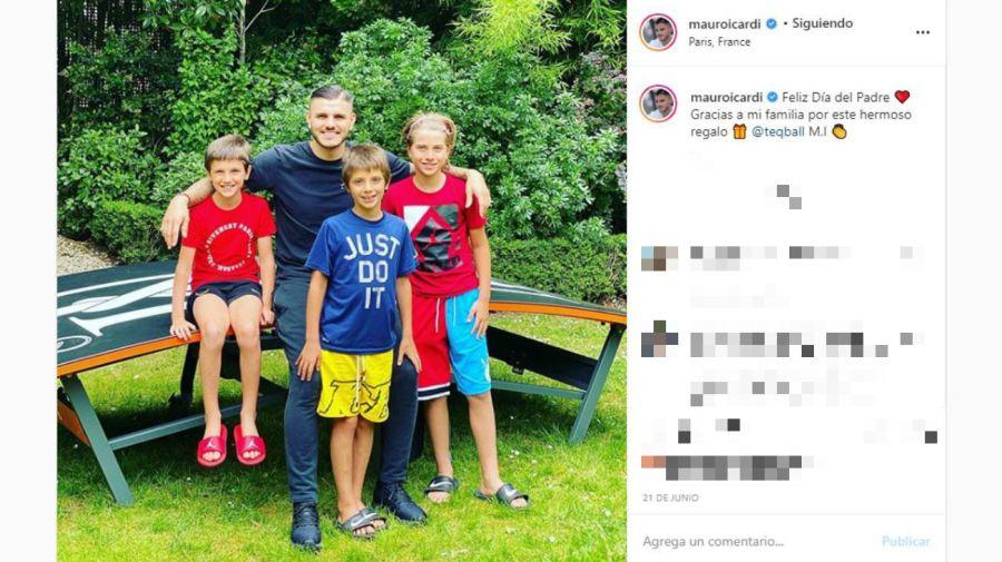 Mauro Icardi y los hijos de Maxi Lopez