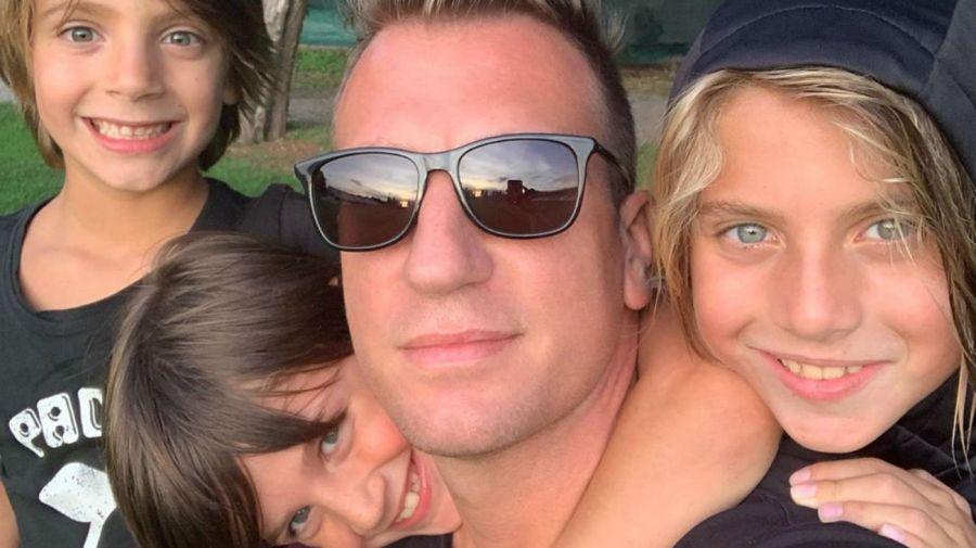 Maxi Lopez y sus hijos