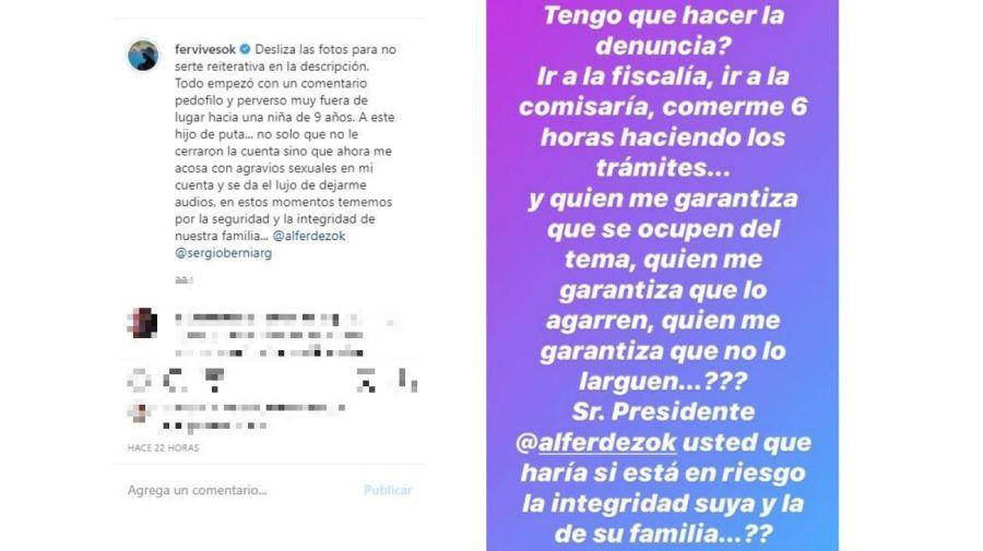 El mensaje Fernanda Vives a Alberto Fernández