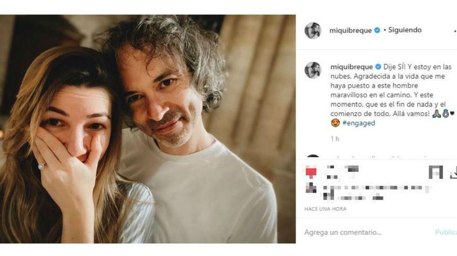 Micaela Breque y James Rhodes, comprometidos