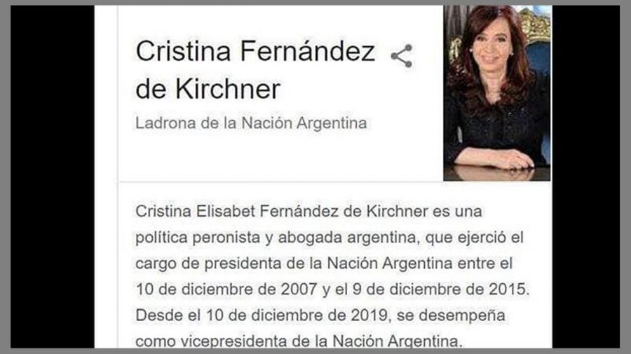 cristina thief of the nation