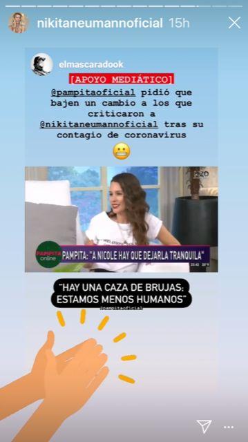 La reacción de Nicole Neumann tras ver a Pampita defendiéndola en televisión