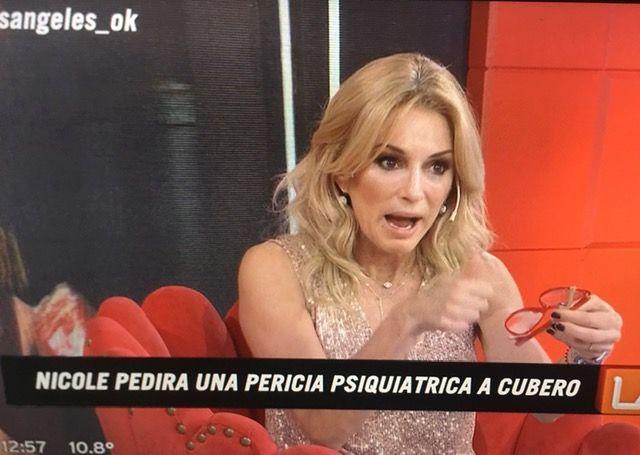 Yanina Latorre reveló que Nicole le pediría una pericia psiquiátrica a Cubero