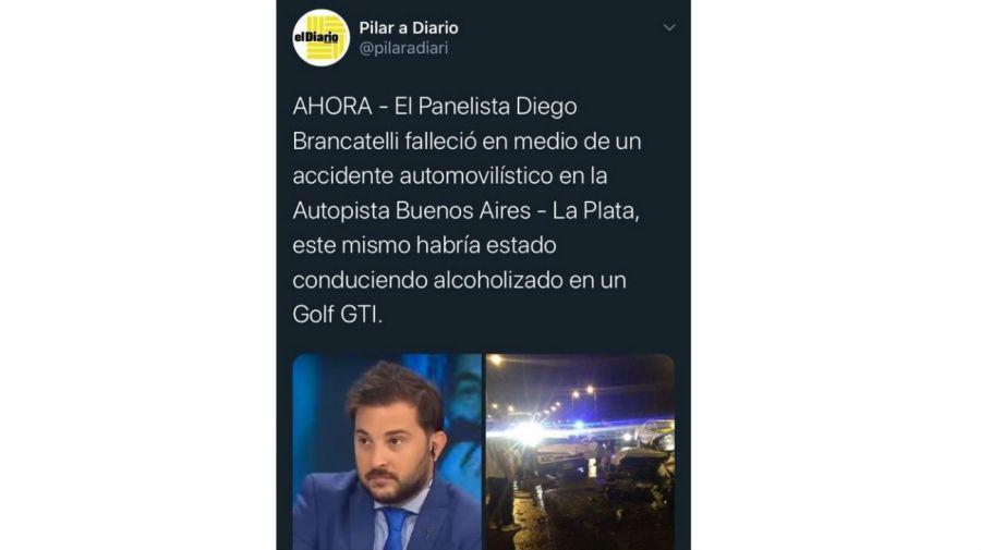 Diego Brancatelli, víctima de la fake news