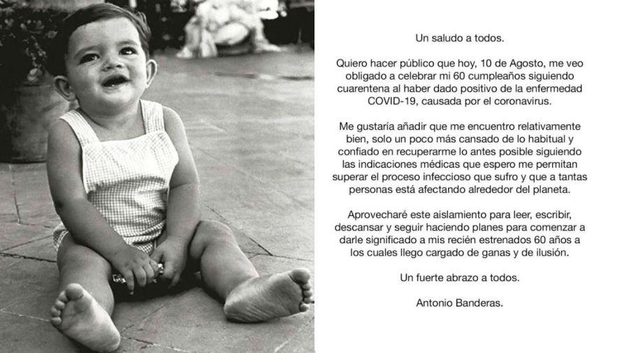 Antonio Banderas tiene coronavirus
