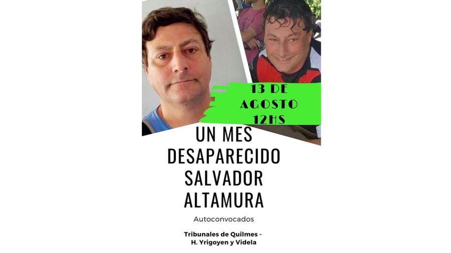 Salvador Altamura, desaparecido en Quilmes 20200810