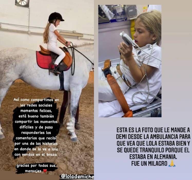 El accidente de Lola Demichelis