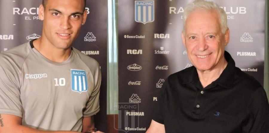 Lautaro Martínez y Víctor Blanco