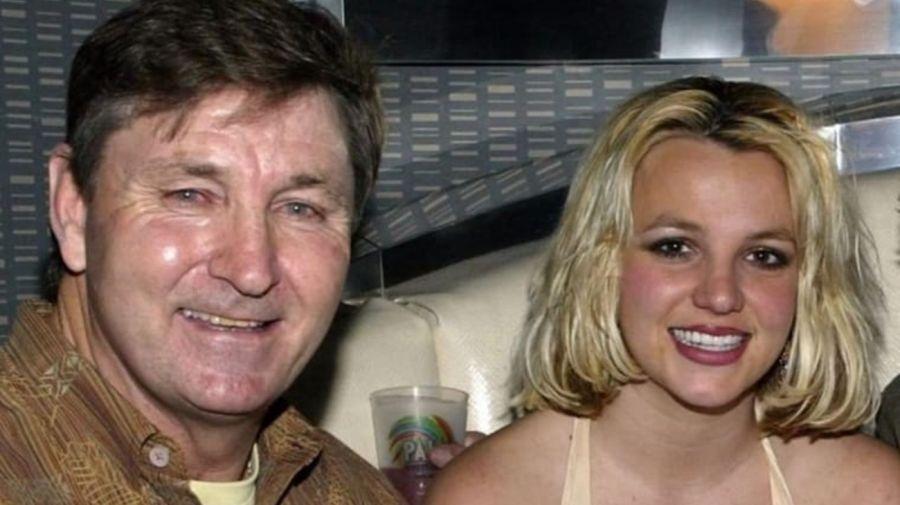 Britney Spears junto a su padre Jamie