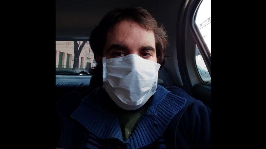 Gonzalo Gambetta camino al Hospital Militar